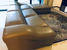 [9成新] 大型皮沙發300公分2+1+側椅L型沙發無破損有使用痕跡