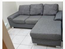 [9成新] 布面沙發一組L型沙發無破損有使用痕跡