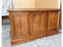 [9成新] 5尺柚木辦公桌(附玻璃)辦公桌無破損有使用痕跡