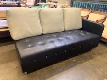 [9成新] 簡單實用合成皮三人沙發雙人沙發無破損有使用痕跡