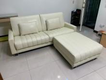 [9成新] 高貴不貴半牛皮L型沙發組L型沙發無破損有使用痕跡