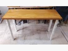 [全新] 松木~松木厚板可拆餐桌餐桌全新