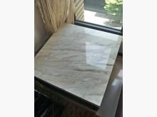 [9成新] 雪白銀狐天然大理石邊桌70*50其它桌椅無破損有使用痕跡