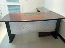 [9成新] 氣派主管桌(6呎 L型)辦公桌無破損有使用痕跡