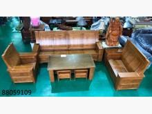 [全新] 88059109 樟木色木組椅木製沙發全新