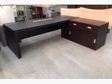[95成新] L型主管桌+側櫃/胡桃主管辦公桌辦公椅近乎全新