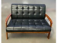 [95成新] A62710*黑色2人座皮沙發雙人沙發近乎全新