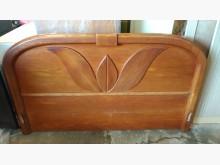 [9成新] 【尚典中古家具】柚木色5呎床頭板床頭櫃無破損有使用痕跡