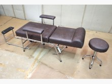 [9成新] 二手美容床椅含圓椅 桃園區免運費單人沙發無破損有使用痕跡