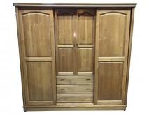 [9成新] B70809*木紋色半實衣櫃*衣櫃/衣櫥無破損有使用痕跡
