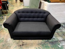 [9成新] IKEA 黑布雙人沙發*休閒沙發雙人沙發無破損有使用痕跡