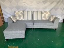 [9成新] 二手/中古 灰色L型布沙發L型沙發無破損有使用痕跡
