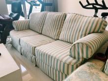 [8成新] 鄉村風布沙發 3+1座多件沙發組有輕微破損