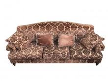 [9成新] A71108*咖啡花布四人沙發*雙人沙發無破損有使用痕跡