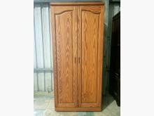 [9成新] 二手原木衣櫃、雙門衣橱衣櫃/衣櫥無破損有使用痕跡