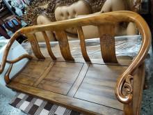 [9成新] 仿古柚木1+2+3+大小茶几木製沙發無破損有使用痕跡