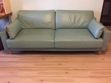 [95成新] 三人座皮沙發雙人沙發近乎全新