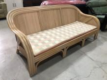 [9成新] 鑫勝2手-藤製3人座沙發椅籐製沙發無破損有使用痕跡