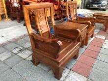 [9成新] 鑫勝2手-樟木公婆椅組 1桌2椅木製沙發無破損有使用痕跡