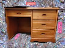 [9成新] 原木書桌/實木書桌/椅無破損有使用痕跡