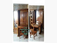 [9成新] 閣樓2144-樟木化妝台+椅鏡台/化妝桌無破損有使用痕跡
