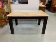 [9成新] E73104*胡桃大理石面餐桌*餐桌無破損有使用痕跡