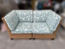 [9成新] A72502* 藤製雙人沙發*籐製沙發無破損有使用痕跡
