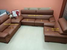 [8成新] 二手半牛皮沙發(2折出售)多件沙發組有輕微破損