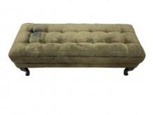 [7成新及以下] A72603* 深綠色長形方塊椅其它沙發有明顯破損