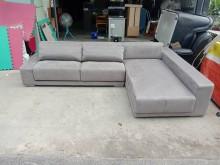 [9成新] (9成新)絨布多功能L型沙發L型沙發無破損有使用痕跡