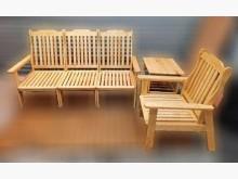 [8成新] 木製沙發組(3+1+小茶几)木製沙發有輕微破損