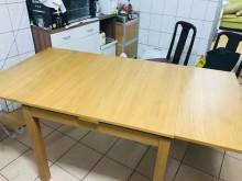 [9成新] IKEA 實木(可延伸)餐桌餐桌無破損有使用痕跡