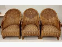 [9成新] 進口高級藤椅籐製沙發無破損有使用痕跡