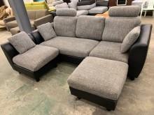 [9成新] 左右可換邊L型沙發組L型沙發無破損有使用痕跡