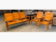 [9成新] 油油亮亮3+1+1實木沙發組木製沙發無破損有使用痕跡