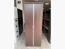 [8成新] 胡桃色2.5尺 雙拉門吊桿衣櫃衣櫃/衣櫥有輕微破損