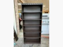 [8成新] 香榭*胡桃色2.7尺 開放式書櫃書櫃/書架有輕微破損