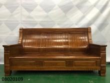 [9成新] 08020109可掀式3人木組椅木製沙發無破損有使用痕跡