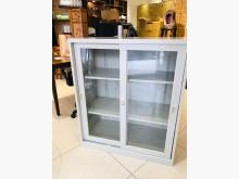 [9成新] 透明滑門三層鐵櫃 (二手良品)辦公櫥櫃無破損有使用痕跡