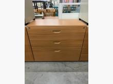 [9成新] 大慶二手家具 木紋三尺三抽文件櫃辦公櫥櫃無破損有使用痕跡