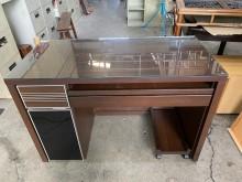 [9成新] 大慶二手家具 胡桃色多功能電腦桌電腦桌/椅無破損有使用痕跡