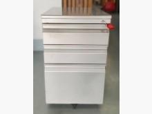 [9成新] C81801*銀色3抽活動櫃*辦公櫥櫃無破損有使用痕跡