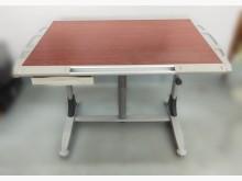 [9成新] *木紋製圖桌/書桌*書桌/椅無破損有使用痕跡