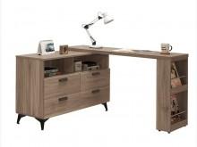 [全新] 葛里法L型灰橡伸縮書桌 桃區免運書桌/椅全新