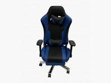[9成新] 全新高級黑藍色電競椅電腦桌/椅無破損有使用痕跡