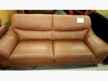 [8成新] 大台北二手傢俱-2+3半牛皮沙發多件沙發組有輕微破損