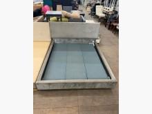 [9成新] 大慶二手家具 五尺灰色絨布床組雙人床架無破損有使用痕跡