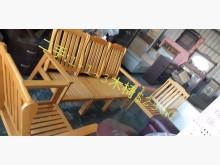 [8成新] 尋寶屋二手買賣~1+1+3木椅木製沙發有輕微破損