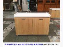 [8成新] 實木雙門收納櫃 展示桌櫃 餐櫃收納櫃有輕微破損