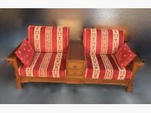 [95成新] TK82301* 柚木雙人沙發木製沙發近乎全新